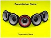 Music Speakers Animated PowerPoint Template, TheTemplateWizard