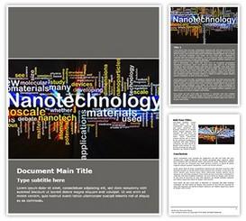 Nanotechnology Free Word Template background, PPT Nanotechnology