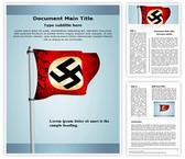 Nazi German Flag Word Template, TheTemplateWizard
