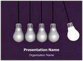Newton Lightbulb Cradle Animated PowerPoint Template, TheTemplateWizard