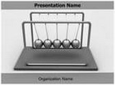 Newtons Cradle Law Animated PowerPoint Template, TheTemplateWizard