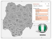 Nigeria PowerPoint Map, TheTemplateWizard