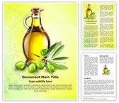 Olive Oil Word Template, TheTemplateWizard