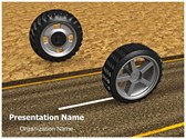 On Road Off Road Tyres PowerPoint Template, TheTemplateWizard