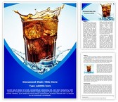 Overflowing Drink Word Template, TheTemplateWizard