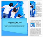 Painting Word Template background with 3 PPT slides