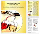 Pouring Wine Word Template, TheTemplateWizard