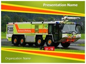Powerful Fire Truck PowerPoint Template, TheTemplateWizard