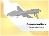 Predator Drone Animated PowerPoint Template, TheTemplateWizard