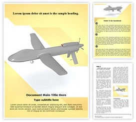 Predator Drone Word Template | TheTemplateWizard