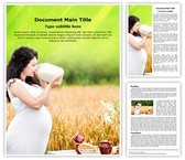 Pregnancy Nutrition Word Template, TheTemplateWizard