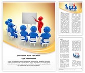 Presentation Word Template background with 3 PPT slides