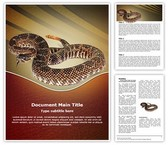 Rattlesnake Word Template background with 3 PPT slides