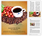 Raw Coffee Beans Word Template, TheTemplateWizard