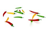 Red Green chilli Clipart Image, TheTemplateWizard