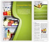 Refrigerator Full Of Food Word Template, TheTemplateWizard