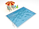 Resort Swimming Pool Animated Clipart, TheTemplateWizard