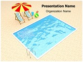Resort Swimming Pool PowerPoint Template, TheTemplateWizard