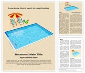 Resort Swimming Pool Word Template, TheTemplateWizard