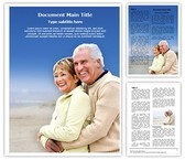 Retirement Word Template background with 3 PPT slides