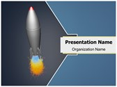 Rocket Missile Animated PowerPoint Template, TheTemplateWizard