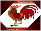 Rooster Vector PowerPoint Template, TheTemplateWizard