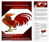 Rooster Vector Word Template, TheTemplateWizard