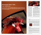 Rooster Word Template, TheTemplateWizard