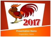 Rooster Year 2017 PowerPoint Template, TheTemplateWizard