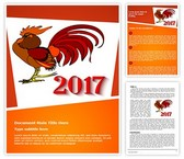 Rooster Year 2017 Word Template, TheTemplateWizard