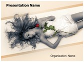 Rose Woman PowerPoint Template, TheTemplateWizard
