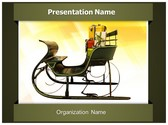 Santa Claus Wagon PowerPoint Template, TheTemplateWizard