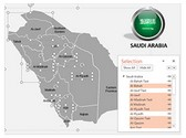Saudi Arabia PowerPoint Map, TheTemplateWizard