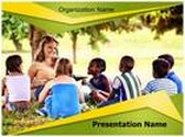 School Camp PowerPoint Template background with 6 PPT slides