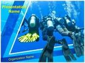 Scuba Divers Group PowerPoint Template, TheTemplateWizard