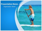 Sea Paddling PowerPoint Template, TheTemplateWizard