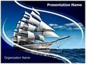 Ship With Sails PowerPoint Template, TheTemplateWizard