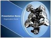 Six Stroke Engine PowerPoint Template, TheTemplateWizard