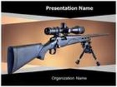 Sniper Rifle PowerPoint Template, TheTemplateWizard