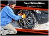 Snow Chains PowerPoint Template, TheTemplateWizard