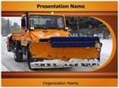 Snow Plow Truck PowerPoint Template, TheTemplateWizard