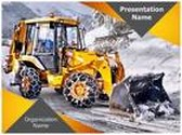 Snow Removal PowerPoint Template, TheTemplateWizard
