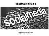 Social Media Free PowerPoint Template, TheTemplateWizard