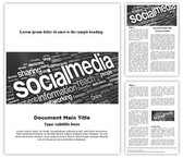 Social Media Free Word Template, TheTemplateWizard