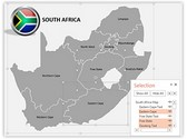 South Africa PowerPoint Map, TheTemplateWizard