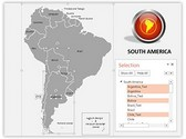 South America PowerPoint Map, TheTemplateWizard