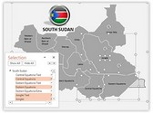South Sudan PowerPoint Map, TheTemplateWizard