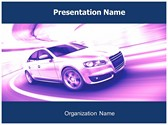 Speed Car Free PowerPoint Template, TheTemplateWizard