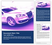 Speed Car Free Word Template, TheTemplateWizard