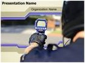 Speed Radar Gun PowerPoint Template, TheTemplateWizard